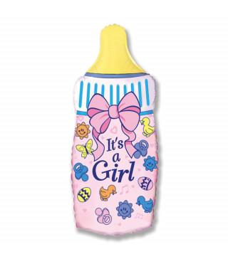 Кульки міні Пляшечка Its a Girl 902645 FlexMetal