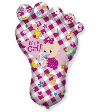 Кульки міні Ступня дівчинки фольга 902620 FlexMetal