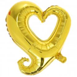 Кульки фольг.б/м Серце  з хвостиком відкрите червоне/золоте (7г) 901500(Y) FlexMetal