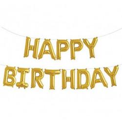 Кульки Букви HAPPY BIRTHDAY золоті 13шт/уп фольга 18894 Китай