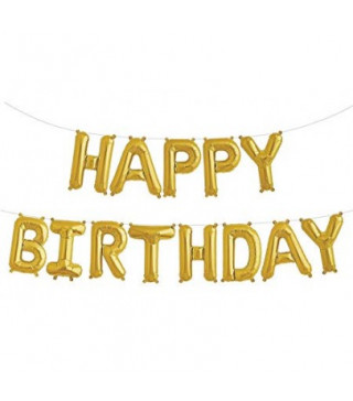 Шарики Буквы HAPPY BIRTHDAY золотые