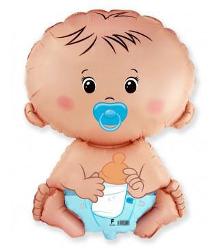 Кульки міні Хлопчик з пустишкою фольга 902751 FlexMetal