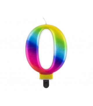 """Свічка цифра """"0 Galaxy 8,0см парафін 11516 Godan"""