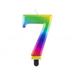 """Свічка цифра """"7 Galaxy 8,0см парафін 11523 Godan"""