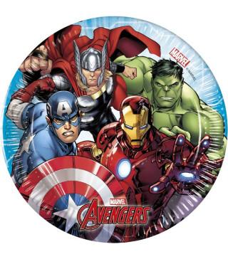 Тарелки Avengers 8шт/уп