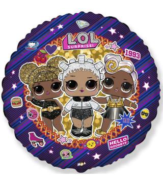 Кульки фольг з малюнк. Ляльки LOL (2,5г) 40158 Китай