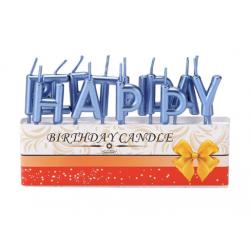 Свічка Happy Birthday Сині парафін 453184 Китай