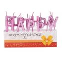 Свічка Happy Birthday Рож-золото парафін 453183 Китай