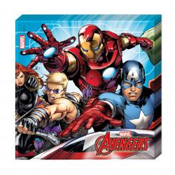 Серветки Avengers 33*33 20 шт/уп папір 87967 Procos