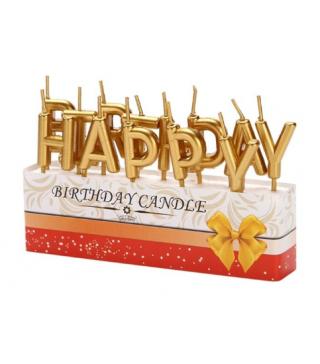 Свечи Happy Birthday Ассорти
