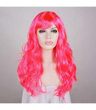 Перука Пряма рожево-біла 50см S-10730 Китай