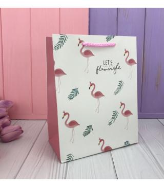Подарочный пакет Фламинго