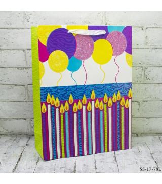 Подарунковий пакет Happy birthday balloon32*26*10см 26782 Unigue