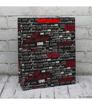Подарунковий пакет Love 26*32*10см картон 26092 Китай