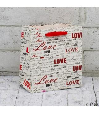 Подарунковий пакет Love 14*15*7см картон 14094 Китай