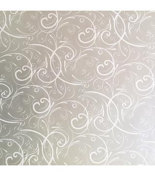 Пакувальна упаковка Папір подарунковий срібний в білі розводи 5м*70 рулон папір 03490 Україна