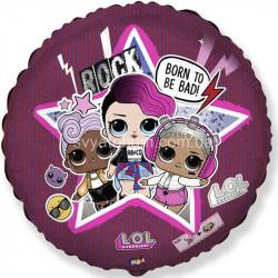 Кульки фольг з малюнк. Ляльки LOL Рок-група (2,5г) 401590 Китай