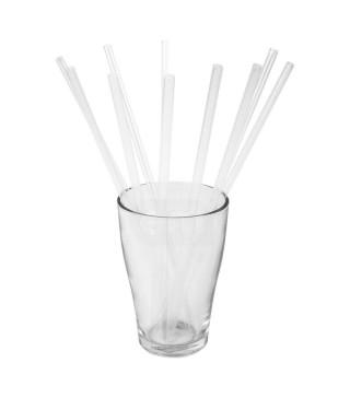 Соломка фреш для коктеля 25шт./уп прозорі пластик BA-33029