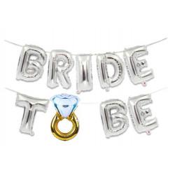Кульки Букви Bride to be срібні 8560 Китай