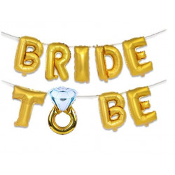 Кульки Букви Bride to be золото 8559 Китай