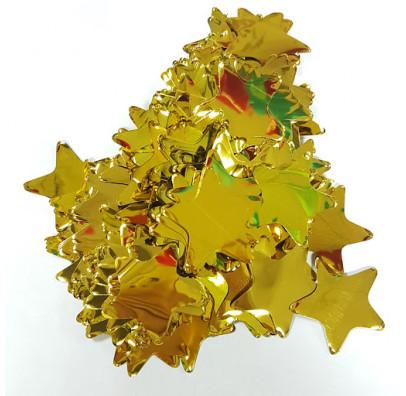 Конфеті зірки золото 23мм 25 гр. поліпропілен 02155