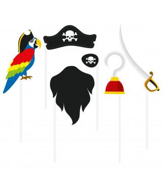 Бутафорія Пірат 6 елем. пластмаса, папір 63837 Godan