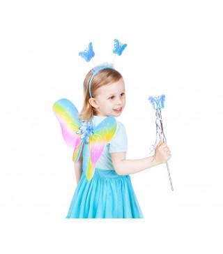 Крила Набір Феї Метелик веселка капрон,пластик,метал 12340 Godan
