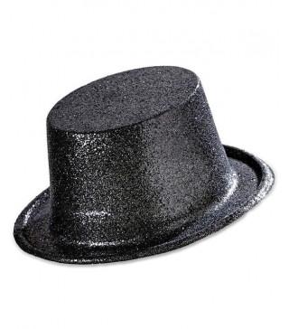 Шляпа Цилиндр черный с блестками