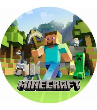 Тарілки Minecraft 8 шт/уп 18см папір 80215 Китай