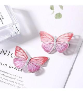 Заколка для принцес метелик рож.2шт /уп резина метал Z-362 Китай