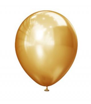 """Шарики Хром 12""""(30см) Золото1шт"""
