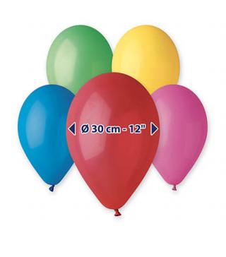 "Кульки пастель 12"" асорті 50 штуп латекс 20120 Kalisan"