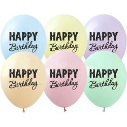 """Кульки поштучно з малюн. 12""""SDR-56  Happy Birthday латекс Ш-02622 TM SHOW"""