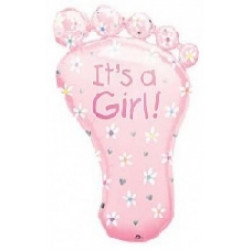 Кулька фольгована фігурна Ступня дівчинки