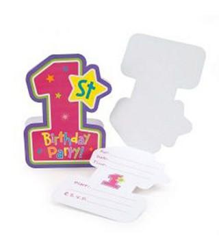 Запрошення 1-st Birthday girl 1шт