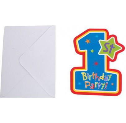 Пригласительное 1-st Birthday boy 1шт