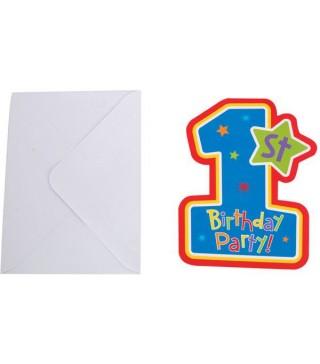 Запрошення 1-st Birthday boy 1шт