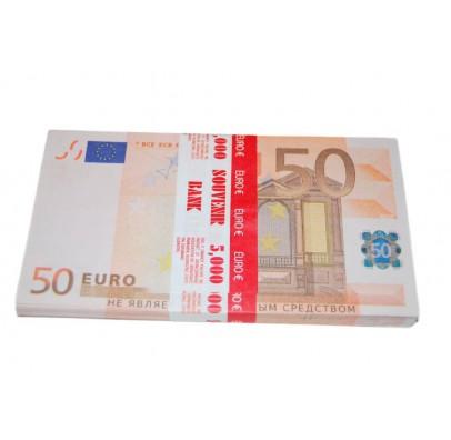 Пачка денег 50 евро