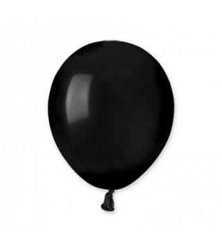 Воздушные шарики черные (13см) пастель 1шт