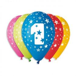 Набір кульок цифра 1 асорті
