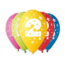 Набір кульок Цифра 2, 5шт/уп