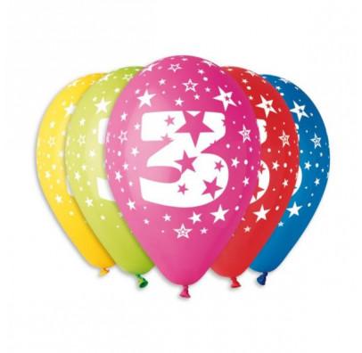 Набор шариков Цифра 3, 5 шт/уп