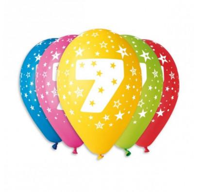 Набір кульок Цифра 7, 5шт/уп