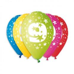 Набір кульок Цифра 9, 5шт/уп