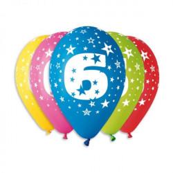 Повітряні кульки цифра 6