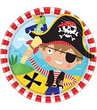 Тарілочки Маленький пірат 8 шт/уп