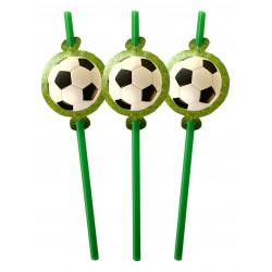 Трубочки Футбол 6 шт/уп