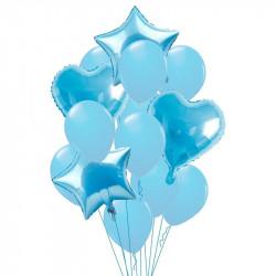 Набір кульок Блакитні 14шт/уп латекс 18325 Китай