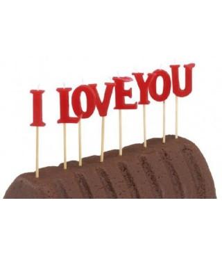 Свічки I Love You 8шт/уп