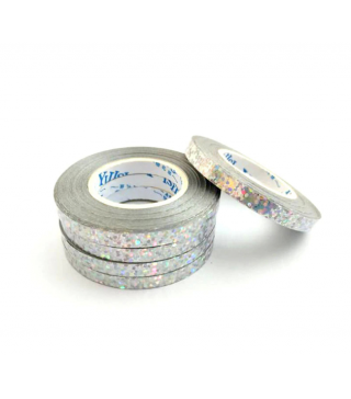 Лента серебрянная голографическая 0,5мм * 10м